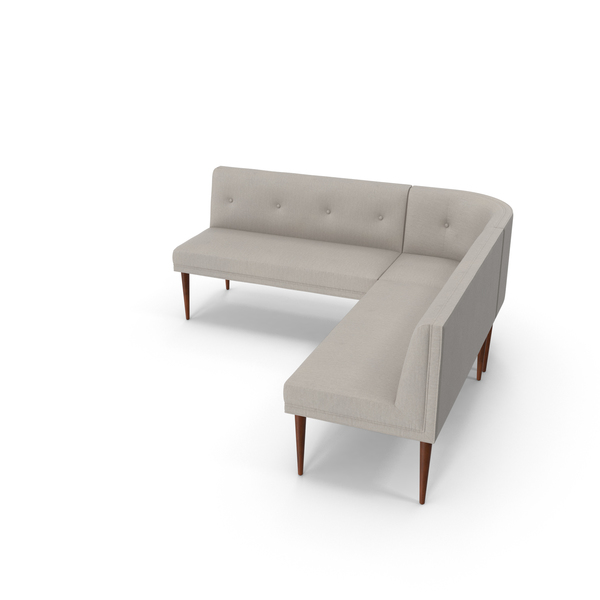 Mid-Century Modern Corner Sofa PNG & PSD Images