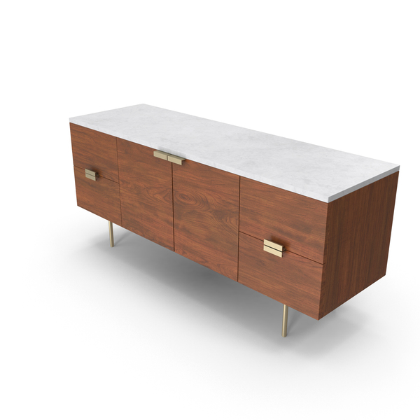 Mid-Century Modern Credenzas PNG & PSD Images