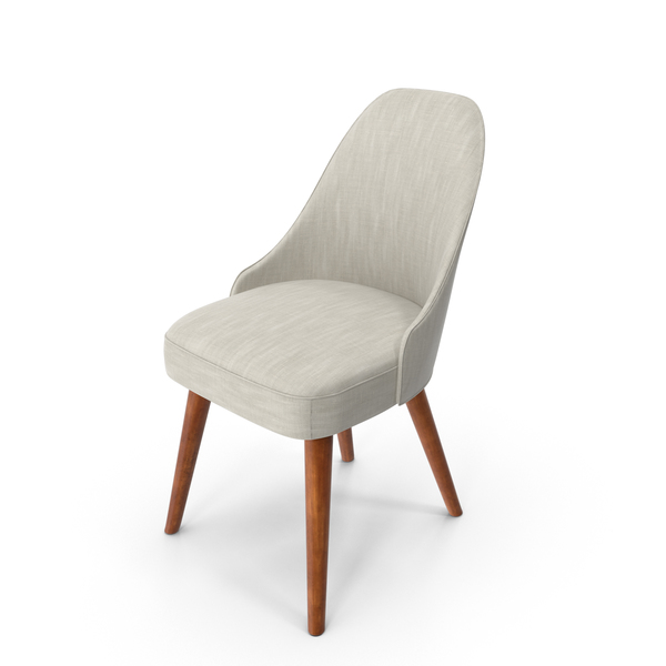 Mid-Century Modern Dining Chair PNG & PSD Images