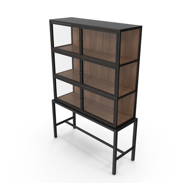 Cupboard: Mid-Century Modern Display Cabinet PNG & PSD Images