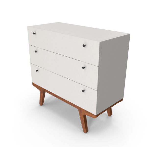 Mid-Century Modern Dresser PNG & PSD Images