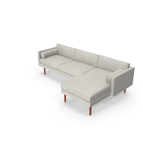 Mid-Century Modern Sectional Modular Sofa PNG & PSD Images