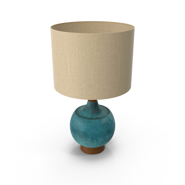 Mid-Century Modern Table Lamp PNG & PSD Images