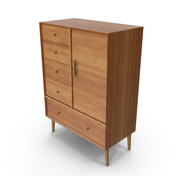 Mid-Century Modern Wardrobe PNG & PSD Images