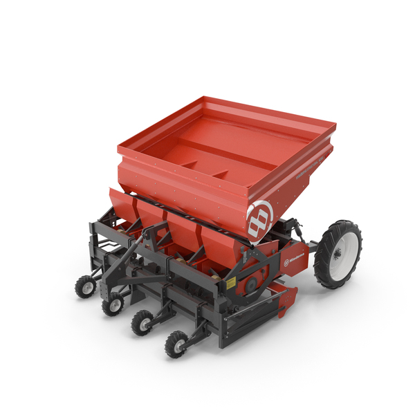 Harvester: Miedema Structural 4000 Potato Planter Red PNG & PSD Images