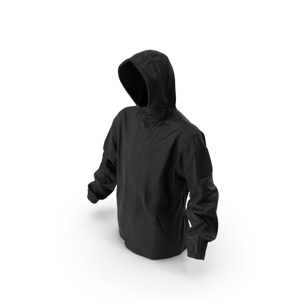 Military Black Jacket Hood PNG & PSD Images