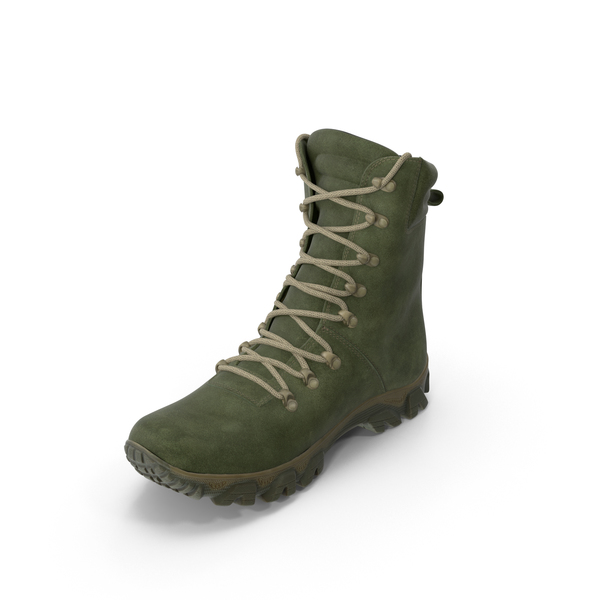 Boots: Military Boot Green PNG & PSD Images