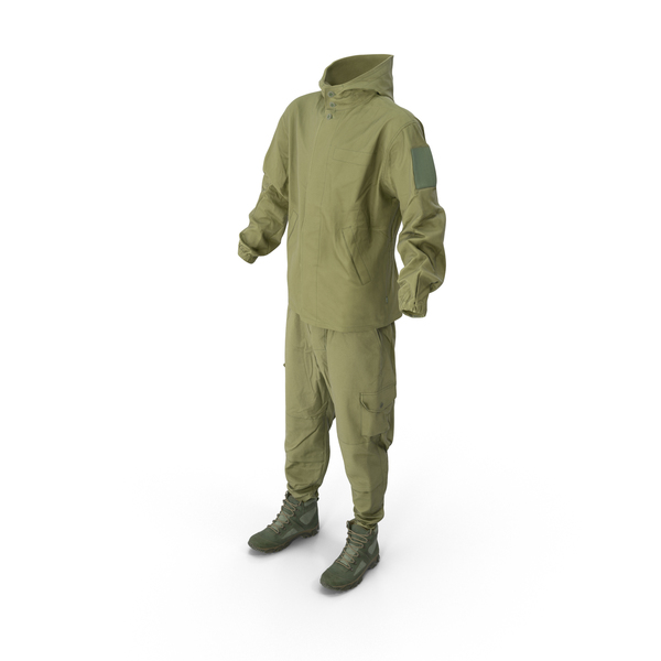 Military Coveralls With Boots PNG & PSD Images