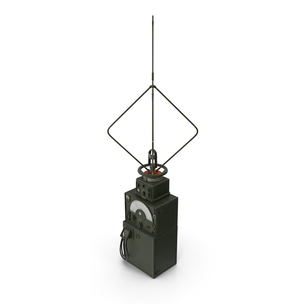 Military Direction Finder Antenna with Amplifier PNG & PSD Images