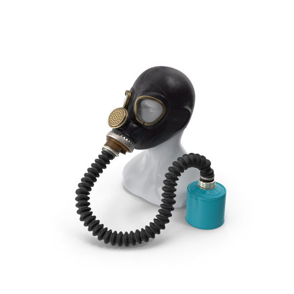 Military Gas Mask GP5 with Hose PNG & PSD Images