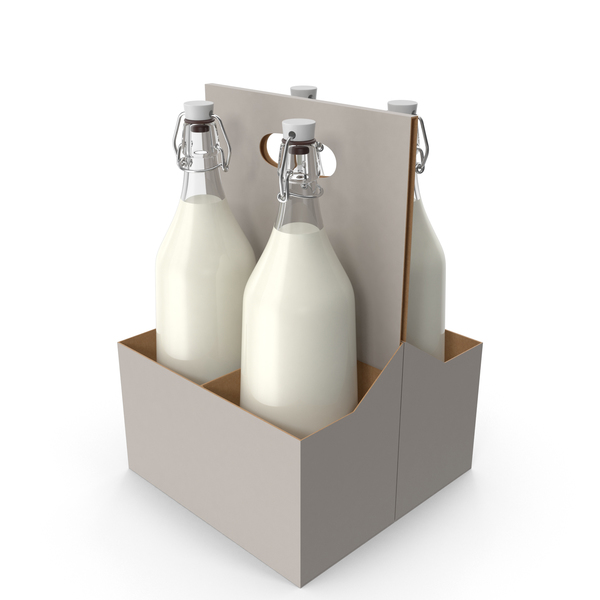 Milk Bottle Case PNG & PSD Images
