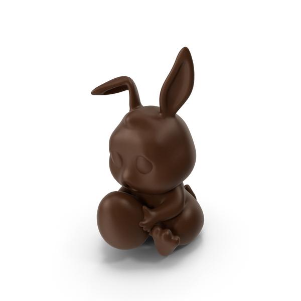 Milk Chocolate Bunny PNG & PSD Images