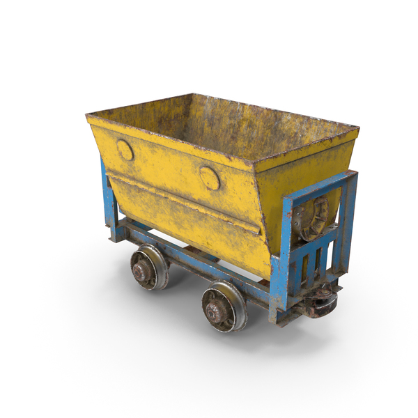 Mining Cart: Mine Wagon Dusty PNG & PSD Images
