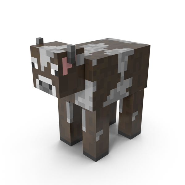 Cartoon: Minecraft Cow PNG & PSD Images