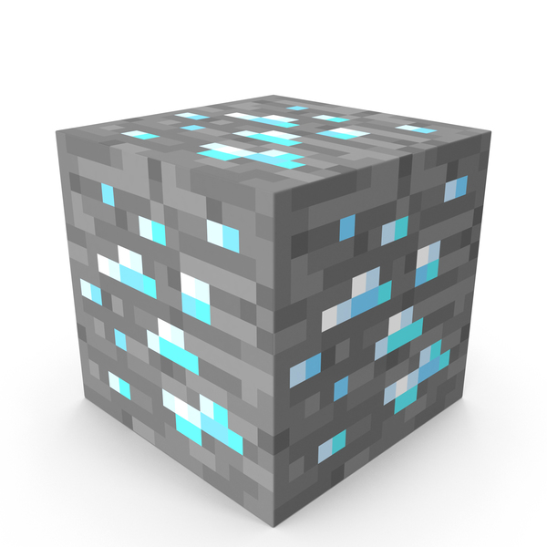 Minecraft Diamond Ore PNG & PSD Images