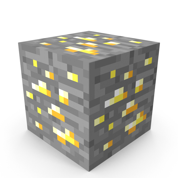 Cube: Minecraft Gold Ore PNG & PSD Images