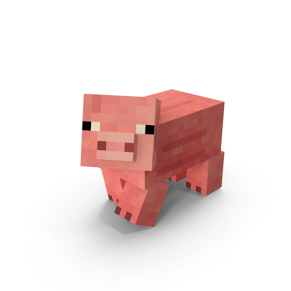 моб свинья в 3д в майнкрафте #6
