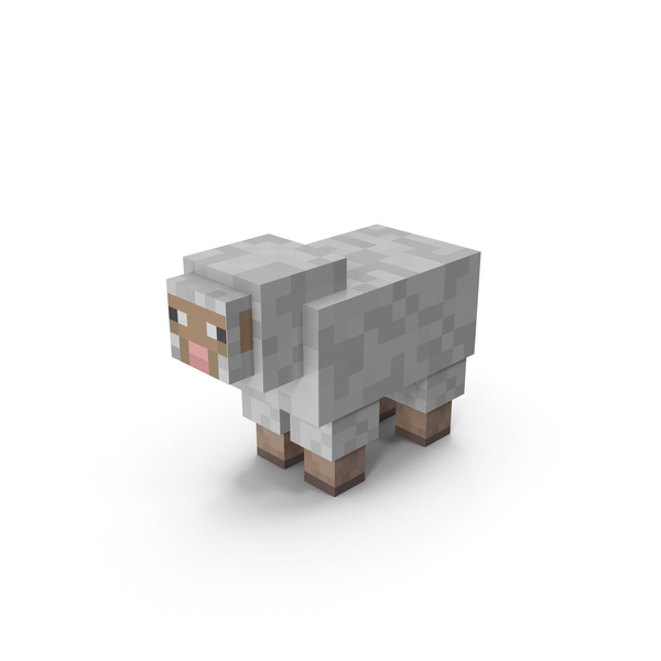 Cartoon: Minecraft Sheep PNG & PSD Images