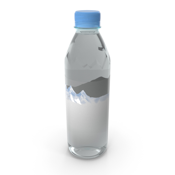 Mineral Water 500ml Plastic Bottle PNG & PSD Images