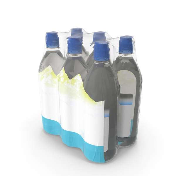 Mineral Water 750ml 6 Bottle Pack PNG & PSD Images