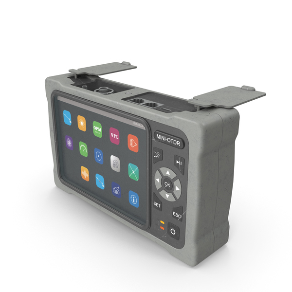 Optical Fiber: Mini OTDR OpenPort Grey Used PNG & PSD Images