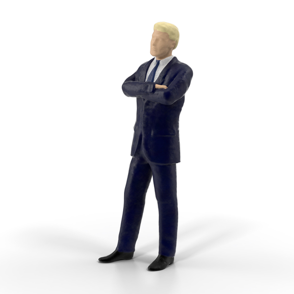 Statuette: Miniature Buisiness Man PNG & PSD Images