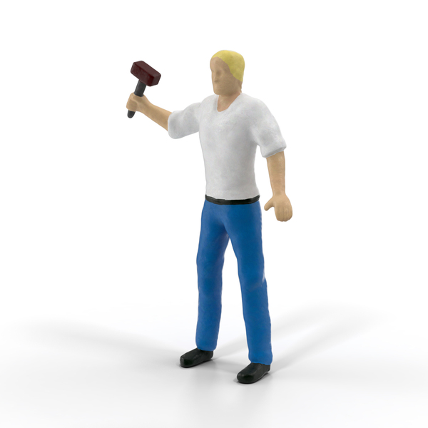 Statuette: Miniature Man at Work PNG & PSD Images