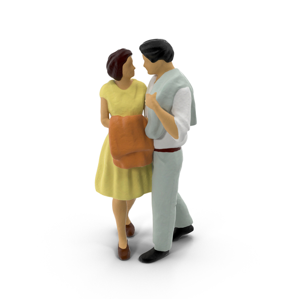 Miniature Toy Couple PNG & PSD Images