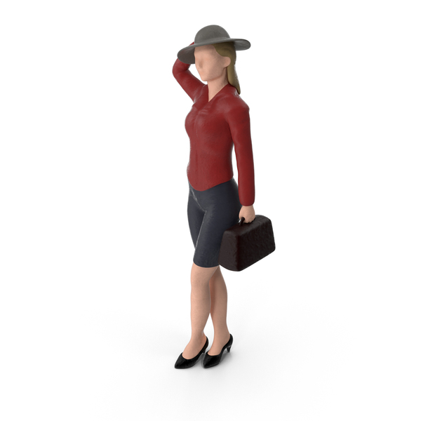 Miniature Woman Traveler Object