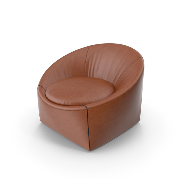 Minotti Capri Leather Armchair PNG & PSD Images