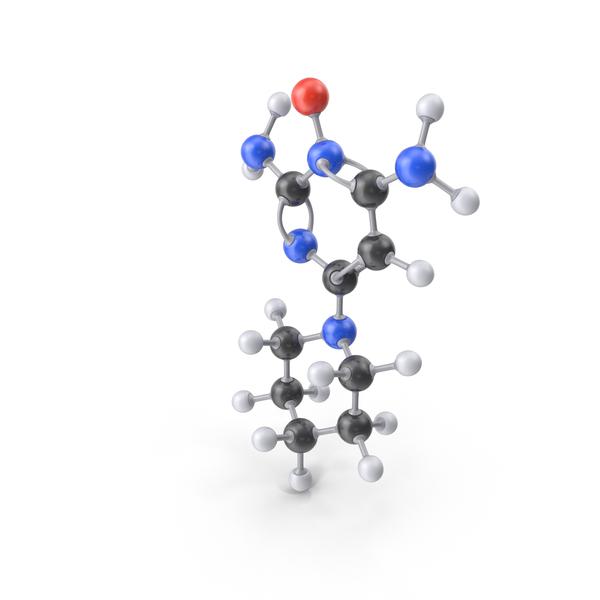 Minoxidil Molecule PNG & PSD Images