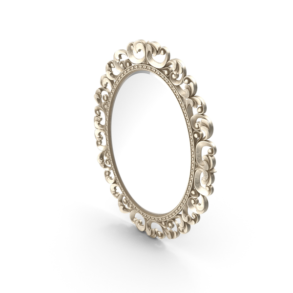 Mirror Lineatre Gold Componibile Oval PNG & PSD Images