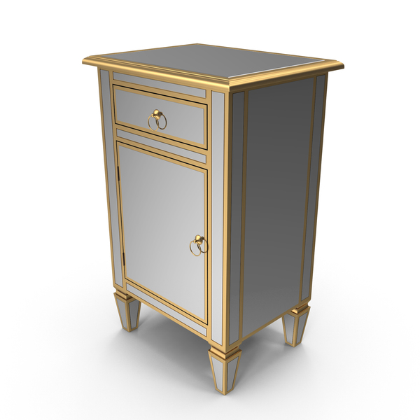 Mirrored Side Cabinet PNG & PSD Images