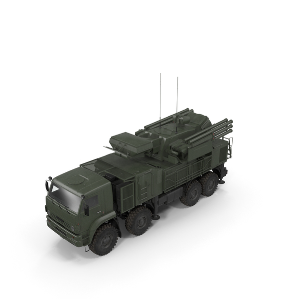 Missile System Pantsir S1 SA-22 Greyhound Dirty PNG & PSD Images