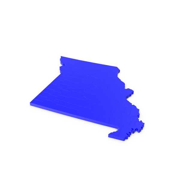State: Missouri Counties Map PNG & PSD Images