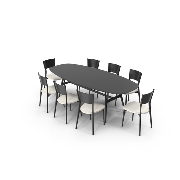 Misuraemme Gaudi Dining Table Set PNG & PSD Images