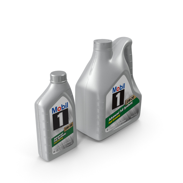 Mobil 1 Synthetic Oil Bottles PNG & PSD Images