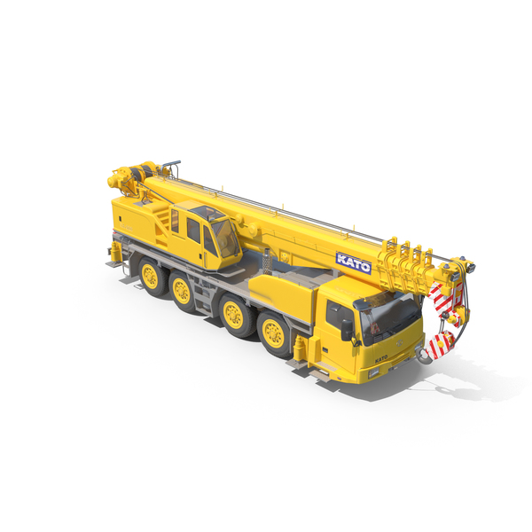 Mobile Crane KATO KA-900 Construction Equipment PNG & PSD Images