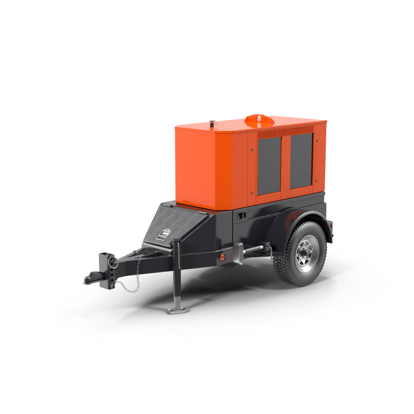 Mobile Diesel Generator PNG & PSD Images