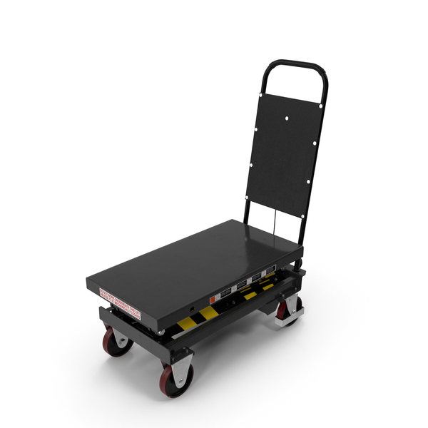 Mobile Hydraulic Scissor Trolley Lifted PNG & PSD Images