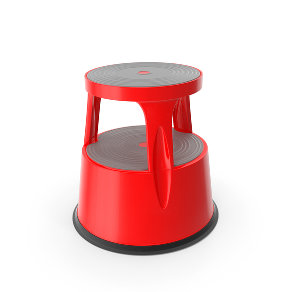 Mobile Kick Stool Steel Red PNG & PSD Images