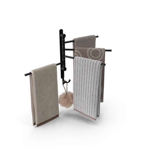 Modern Bathroom Towel Rack PNG & PSD Images