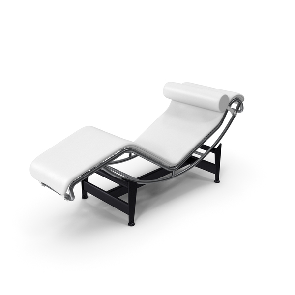 Glider Chair: Modern Chaise Lounge White PNG & PSD Images