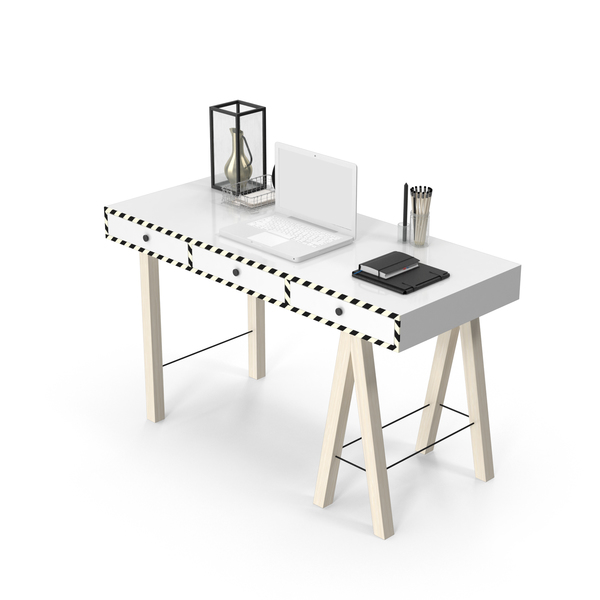 Modern Desk Set PNG & PSD Images