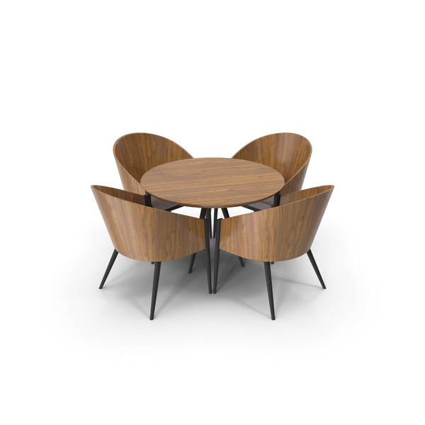 Modern Dining Table & Chair PNG & PSD Images