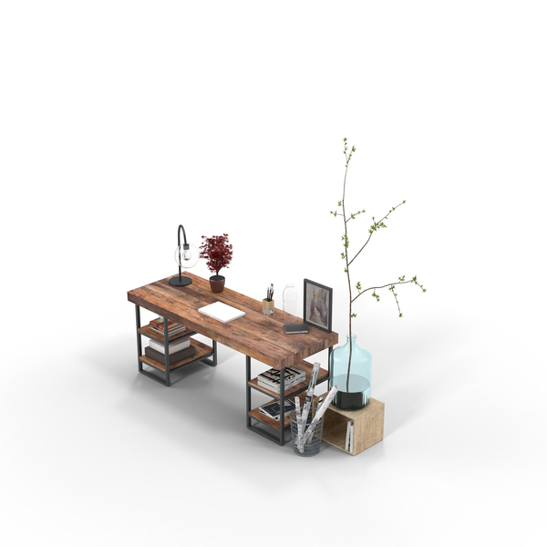 Furniture Collections: Modern Office Set PNG & PSD Images
