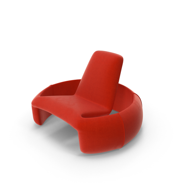 Modern Plush Chair PNG & PSD Images