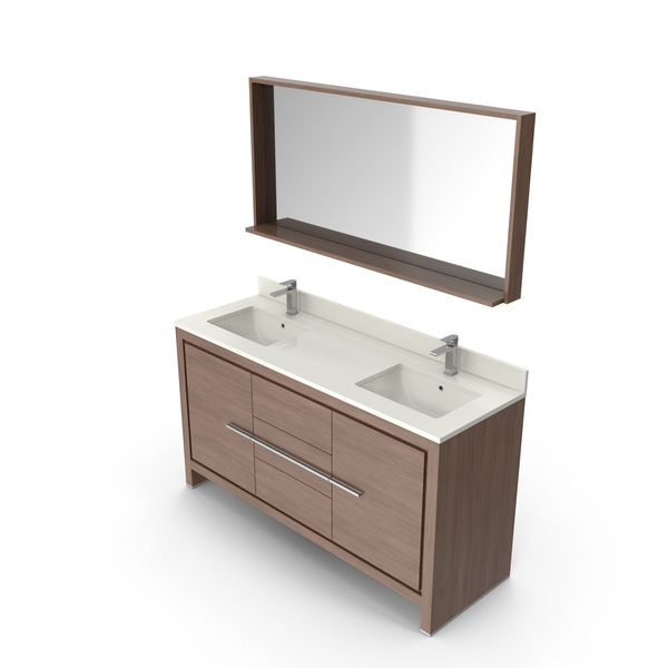 Bathroom Furniture: Modern Vanity PNG & PSD Images