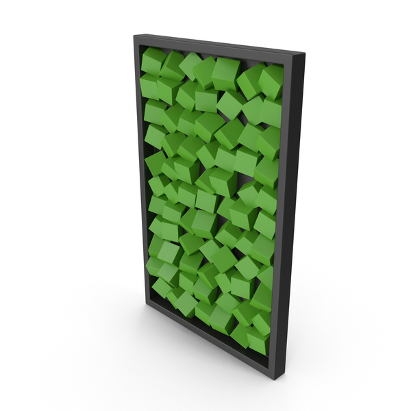 Modern Wood Wall Art Green PNG & PSD Images