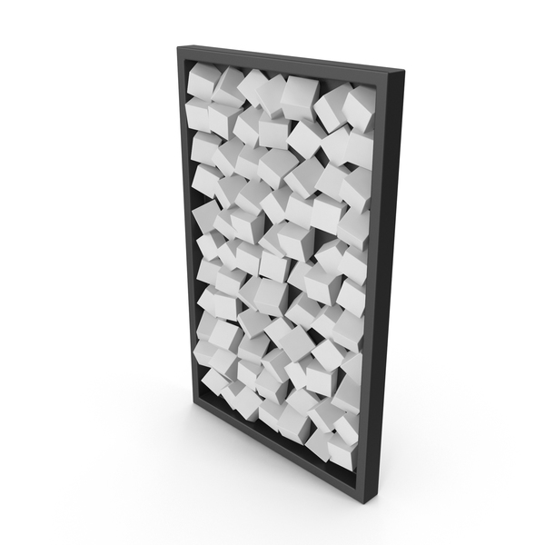 Modern Wood Wall Art White PNG & PSD Images